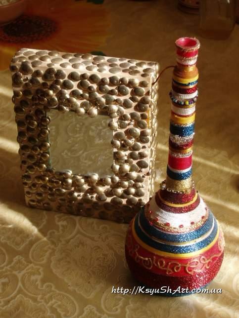 Зеркальце и бутылка а-ля восток