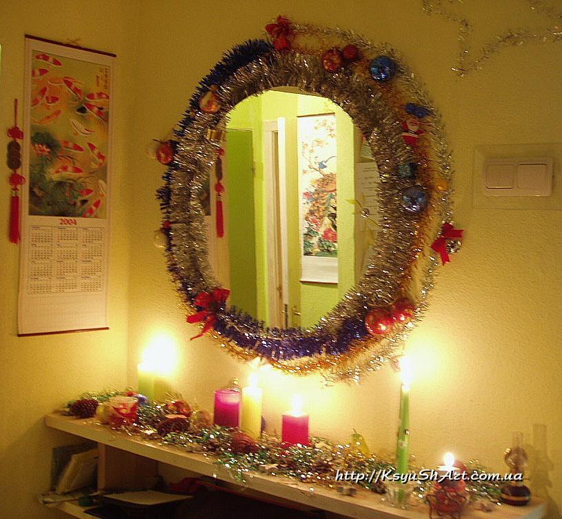 Зеркало новогоднее