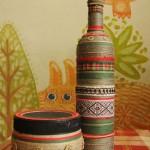 декор бутылок в этническом стиле